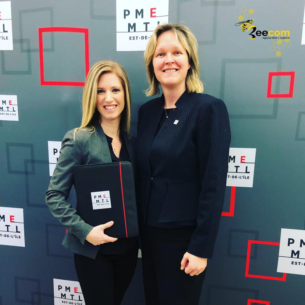 Agence web et Créative à Montréal. PME-MTL Est-de-l'île et CRÉAVENIR de Desjardins soutiennent BeeCom et croit en sa croissance.